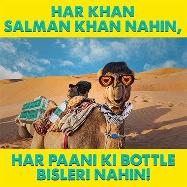 har khan salman khan nahin, har paani ki bottle bisleri nahin!